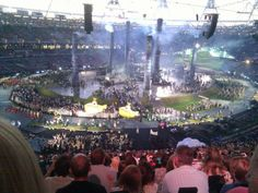 2 RC yellow submarines flying in the opening ceremony.