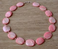 Soft Pink Color Necklace  Czech glass Spacers  22lg by camexinc, $22.00