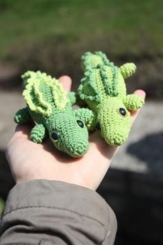 Amigurumi Crocodile PATTERN - Crochet Pdf Pattern and 5 pairs (10mm) hand painted safety eyes via Etsy