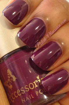 Accessorize - Winter Berry #accessorizenailpolish #berry #nails #nailpolishblogger