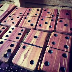 Classic game that you can enjoy outdoors with the family. This game can be played indoors and outdoors so the fun never ends.   Dominoes are made from non treated oak or cedar wood.   Also can have it in a custom made box. The box in the picture is a ...