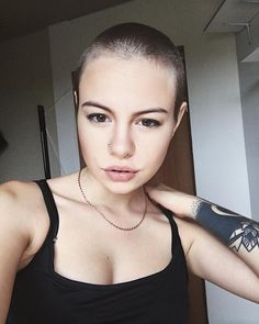 The Moon Lives In The Lining Of Your Skin Bald Buzzed But Beautiful Bald Women Shaved Hair Women Bald Hair
