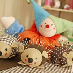 Step by step a beautiful pincushion porcupine! (in Portuguese)