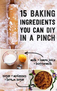 15 Baking Ingredient Substitutes