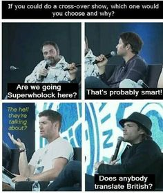 Lol Misha's in on it XD