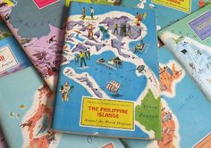 vintage map & travel books