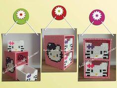 Hello Kitty box hama perler beads