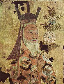 Kagan ouïgour du VIII°s.-  le26 juillet 744, Qutlugh Bilgä (Yaghlakar, Peïlo ou Bouïla) est reconnu par le Chine des TANG comme kaghan (fin de règne en 745). Il fonde l'empire Ouïgour (fin en 840) qui remplace l'empire des Köktürks. Il prend pour capitale ORDU-BALIQ (Quara-balghasoum, la ville-noire), située au bord de l'Orkhon.