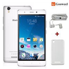 """무료 선물 Blackview A8 휴대 전화 MTK6580 5.0 """"IPS HD 쿼드 코어 안드로이드 5.1 스마트 폰 1 기가바이트 RAM 8 기가바이트 ROM 8MP 3 그램 GPS 휴대 전화"""