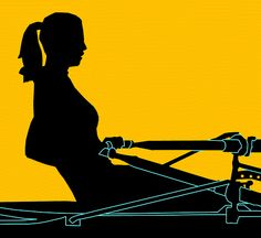 Woman Sculling Silhouette5 by The Happy Rower, via Flickr