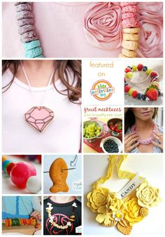 Tons of fun ways to make edible jewelry for kids!