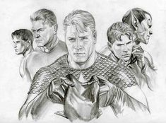 Alex Ross-Invaders portraits Comic Art