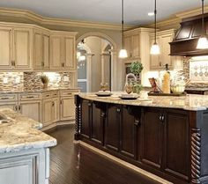 kitchen cabinet dual colors ideas
