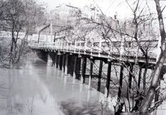 Former South 9th Street bridge. Replaced by the Southgate Parkway bridge. Once you crossed the bridge you crossed the tracks, then headed up Mill Street to the downtown area.