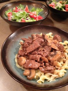 Beef and Mushrooms- The Blonde Can Cook