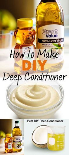 Easiest DIY Deep Conditioner-Ever! Are you ready for this complex and hard to remember recipe? Get out your notepad! 2 parts olive oil 1 part coconut oil 2 ingredients- that's
