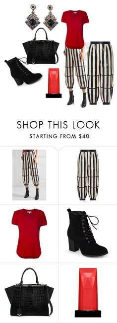 """""""If It Has To Be Stripes...."""" by michelle858 ❤ liked on Polyvore featuring Fendi, MICHAEL Michael Kors, Journee Collection and Clé de Peau Beauté"""