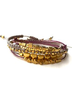 LoT Sale 5 Naz Collection Gold Plated Macrame Mix by NazCollection #nazcollection @nazcollection