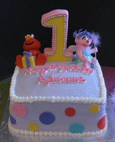 Abby Cadabby And Elmo  Childrens Birthday Cakes Rylies - Elmo and abby birthday cake