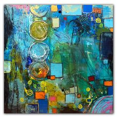 Abstract mixed media painting #mixedmedia #abstractpainting #jaimebyrdart Small Paintings, Contemporary Paintings, Mixed Media Painting, Wood Paneling, Natural Wood, Fine Art, Abstract, Frame, Artist