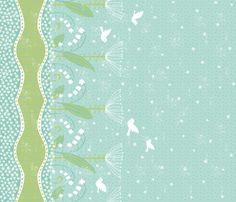 Border print- Claire's Garden fabric by pattyryboltdesigns on Spoonflower - custom fabric
