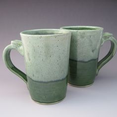 Morty's Green with VC Matte white on speckled white stoneware.