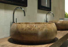 Make your bathroom decoration better with RS-53 washbasin made with natural stone!