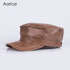 genuine leather men baseball cap hat brand new men's real leather adult solid adjustable army hats/caps Real Leather, Leather Men, Chef Hats, Army Hat, Sports Caps, New Man, Hats For Men, Baseball Cap, Gloves