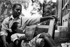 Gordon Parks Never-Before-Seen Photos Of 1950s Segregation [So much to love about this image of a father and daughter reading together]