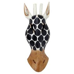 Check out this item at One Kings Lane! Black & White Giraffe Mask