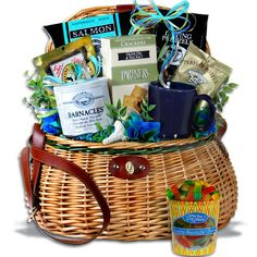 Fishing Gift Basket – Caught The BIG One™: Gift Baskets For Fisherman, Fishing Theme Gift Basket, Fisherman's Gift Baskets, Gift Baskets For A Man, Gifts For A Fisherman, Fishermen's Gift Ideas