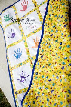 How to make a handprint quilt for teacher appreciation day.  Found via TipJunkie.com