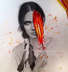 Drawing Works by German Artist Sanne