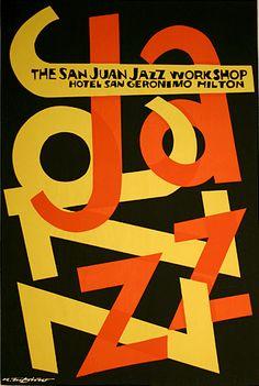 By Rafael Tufiño (1922-2008), The San Juan Jazz Workshop. (Puerto Rico)