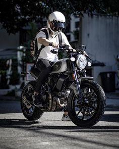 Having A Ride With Vintage Bicycle Posters - Popular Vintage Ducati Scrambler Custom, Cafe Racer Motorcycle, Moto Bike, Motorcycle Style, Motorcycle Outfit, Retro Bikes, Moto Fest, Bobber, Chopper