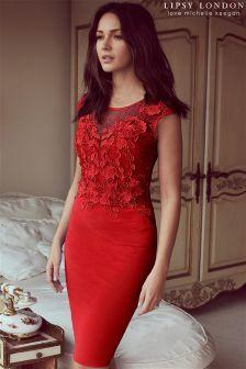 0423dedc32 Lipsy Love Michelle Keegan Lace Appliqué Bodycon Dress (L52856)
