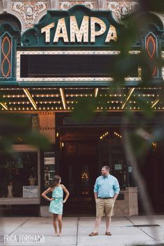 Engagement Photo Ideas // Downtown Tampa Engagement // The Tampa Theatre // Erica Forehand Photography