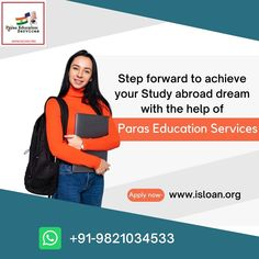 Paras Education Services – the leading study abroad financial consultant with 20+ years of expertise has assisted 10,000+ students with financing options to fulfill their dream to study in college of their choice globally. Study Abroad, 20 Years, The Help, Finance, Students, College, How To Apply, Education, University