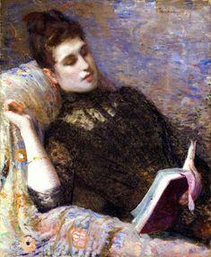 """Lady reading"", Theo van Rysselberghe (Belgian artist, 1862-1926) (via Reading…"