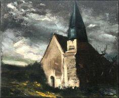 Maurice de Vlaminck - L'Eglise de Saint Lubin, 1934