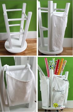 How To Make a Wrapping Paper Organizer ! Great thrift Store idea !