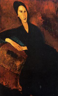 "Portrait of Anna Zborowska, 1917, Oil on Canvas, 51 1/4 x 32"" (130.2 x 81.3 cm), Museum of Modern Art, New York, USA"