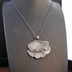 Gingko Leaf Necklace by mangosteenjewelry on Etsy