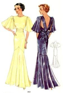 McCall 8421 | ca. 1935 Misses' Evening Dress