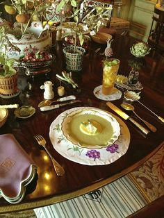 Lunch at Howard Slatkin's Fifth Avenue apartment via Quintessence with recipes.
