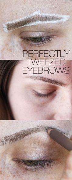 DIY Perfect Eyebrows~ the best tutorial yet
