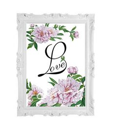 Love-decorazione per casa-quadro da appendere-fiori di di SafuArt