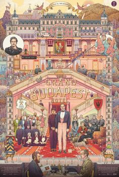 The Grand Budapest Hotel by Ise Ananphada. - Diego Urdaneta - - The Grand Budapest Hotel by Ise Ananphada. Tachisme, Vampire Weekend, Films Cinema, Cinema Posters, Grand Budapest Hotel Poster, Wes Anderson Movies, Wes Anderson Poster, Grande Hotel, Kunst Poster
