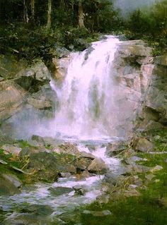 """Master Painter, Richard Schmid's  """"Yukon Waterfall"""""""
