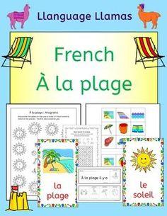 French Summer Beach Vacation Resources - A la... by Llanguage Llamas | Teachers Pay Teachers